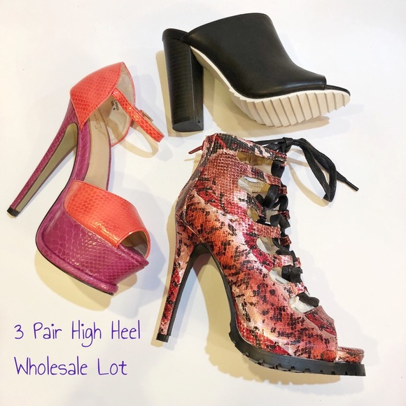 f0f27de3f5c Shoedazzle 3 Pair Heel Wholesale Lot